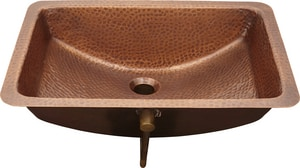 Thompson Traders Harwich 21 x 15-1/4 in. Round Bottom Rectangle Lavatory Sink in Antique Copper TBRU2115HA