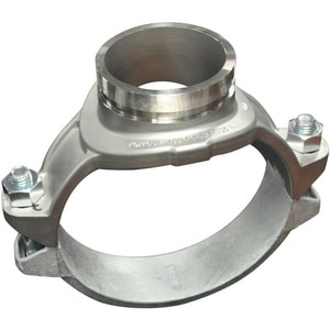 Victaulic Style 422 Stainless Steel Grooved Enamel Gasket Mechanical Tee VC22XE6-NR