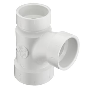Spears P401 Series Hub Reducing, DWV and Sanitary Schedule 40 PVC Sanitary Tee SP401