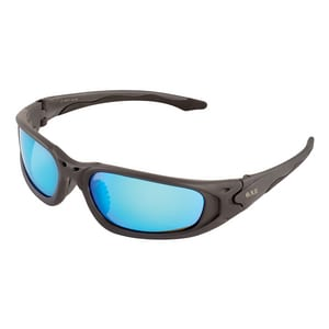 ERB Safety Exile Safety Glass with Blue Mirror Lens with Grey Frame E18017