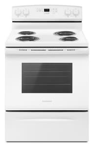 Amana 29-22/25 in. 2150W 4-Burner Freestanding Electric Range with Self Clean Option AACR4503SF