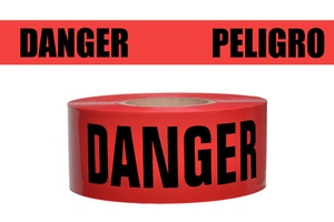 Presco 1000 ft. x 3 in. 2 mil Danger Peligro Barrier Tape PB3102R174737