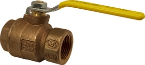 Apollo Conbraco 77C-A Series 600# Bronze and Stainless Steel NPT 2-Piece Full Port Ball Valve with Lever Handle A77C141A