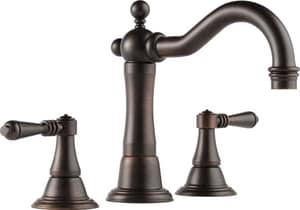 Brizo Tresa® 7-1/2 in. 1.5 gpm 3-Hole Widespread Lavatory Faucet with Double Lever Handle in Brilliance Venetian Bronze D65336LFRBECO