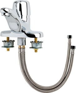 Chicago Faucet 0.5 gpm Hot and Cold Water Mixing Sink Faucet with Single Lever Handle in Polished Chrome C3600E2805AB