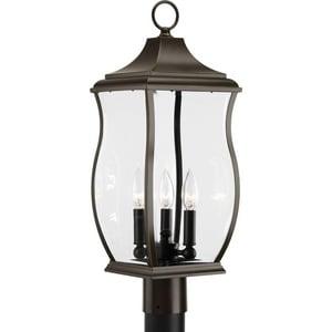 Progress Lighting Township 60W 3-Light Post Mount Lantern in Oil Rubbed Bronze PP5404108