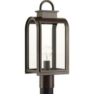 Progress Lighting 100W 1-Light Post Mount Lantern in Oil Rubbed Bronze PP6431108