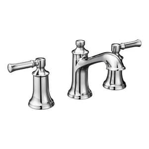 Moen Dartmoor™ 1.2 gpm 3-Hole Widespread Bathroom Faucet with Double Lever Handle MT6805