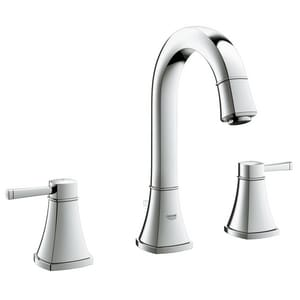 Grohe Grandera 3-Hole Widespread Basin Mixer with Double Lever Handle and 5 in. Spout Reach G20419