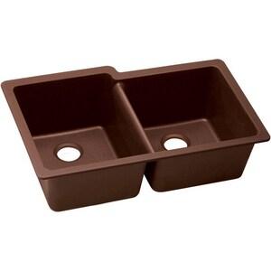 Elkay Quartz Classic 9-1/2 in. 2-Bowl Undermount Kitchen Sink EELGU250R0