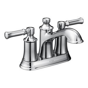 Moen Dartmoor™ 1.2 gpm 3-Hole Centerset Bathroom Faucet with Double Lever Handle M6802