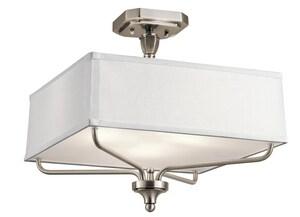 Kichler Lighting Arlo 3-Light Semi Flush Ceiling Fixture in Classic Pewter KK43309CLP
