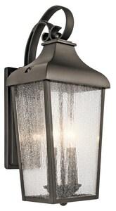 Kichler Lighting Forestdale 2-Light 60W Up Lighting Outdoor Wall Sconce in Olde Bronze KK49736OZ