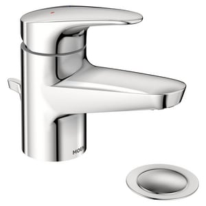 Moen M Bition 1 2 Gpm 1 Hole Deck Mount Lavatory Faucet With Single Lever Handle In Polished