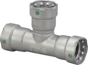 Viega MegaPress® 1-1/4 x 1-1/4 x 3/4 in. Press Carbon Steel Reducing Tee V25515