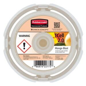 Rubbermaid Tcell™ 3-3/5 in. Mango Blast Odor Control 2-Refill R1957523