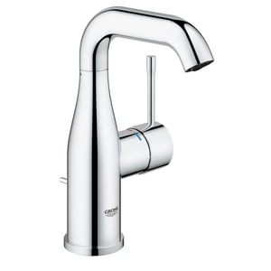 Grohe Essence 1 2 Gpm 1 Hole Centerset Bathroom Faucet With Single