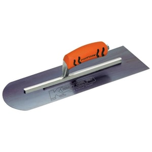 Kraft Tool Company 4 in. Steel Round Front and Square Back Cement Trowel with ProForm Soft Grip Handle KCF2BPF