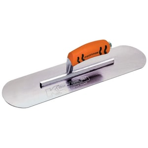 Kraft Tool Company 3 in. Swedish Stainless Steel Pool Trowel with ProForm Soft Grip Handle KCF3PF