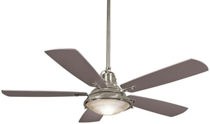 Minka-Aire Groton 64.8W 5-Blade Ceiling Fan with 56 in. Blade Span and Halogen Light MF681