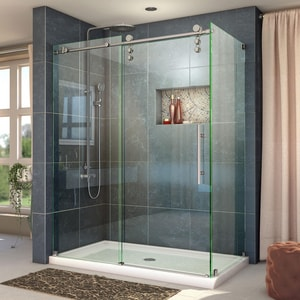 Dreamline® Enigma-Z 60-3/8 in. Frameless Sliding Shower Enclosure with Clear Tempered Glass DSHEN6234600