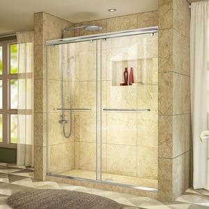 Bath Authority Charisma 60 in. Frameless Sliding Shower Door with Clear Glass DSHDR1360760