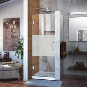Dreamline® Unidoor 30 in. Frameless Hinged Shower Door with Frosted Glass DSHDR20307210FHF