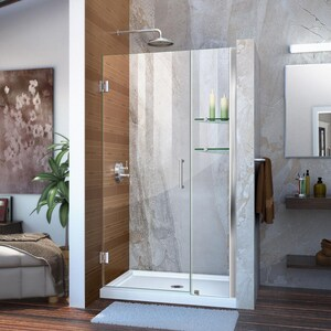 Dreamline® Unidoor 40 in. Frameless Hinged Shower Door with Clear Glass DSHDR20397210S