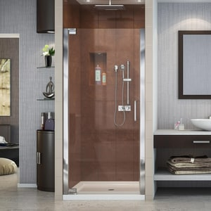 Dreamline® Elegance 34-1/4 in. Frameless Pivot Shower Door with Tempered Glass DSHDR4132720
