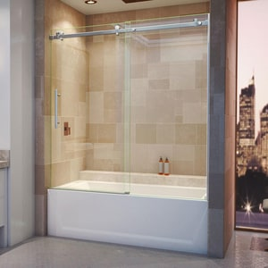 Dreamline® Enigma Air 60 in. Frameless Sliding Tub and Shower Door with Clear Tempered Glass DSHDR64606210