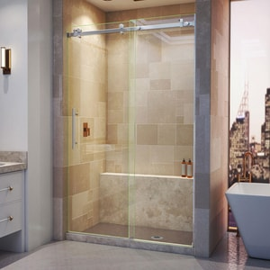 Dreamline® Enigma Air 48 in. Frameless Sliding Shower Door with Clear Tempered Glass DSHDR64487610