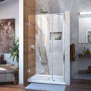 Dreamline® Unidoor 41 in. Frameless Hinged Shower Door with Clear Glass DSHDR20407210