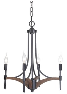 Craftmade International Tahoe 60W 4-Light Candelabra E-12 Base Incandescent Chandelier C40324