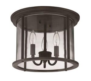 Craftmade International Carlton 60W 3-Light Flushmount Ceiling Light CZ2837
