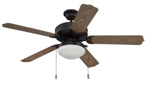 Craftmade International Cove Harbor 58W 5-Blade Ceiling Fan with 52 in. Blade Span CWOD525PC1