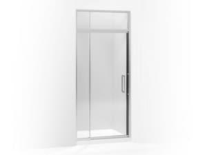 Kohler Lattis® 89-1/2 x 33 in. Pivot Shower Door with 3/8 in. Crystal Clear Glass and Sliding Steam Transom KOH705815-L