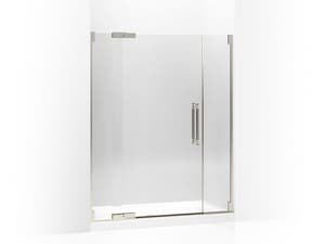 Kohler Pinstripe® 72-1/4 x 59-3/4 in. Heavy Glass Pivot Shower Door with 1/2 in. Crystal Clear Glass KOH705723-L