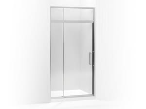 Kohler Lattis® 76 x 42 in. Pivot Shower Door with Crystal Clear Tempered Glass and Sliding Steam Transom KOH705821-L
