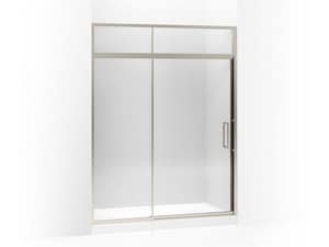 Kohler Lattis® 60 in. Pivot Shower Door with Sliding Steam Transom and Crystal Clear Tempered Glass KOH705825-L