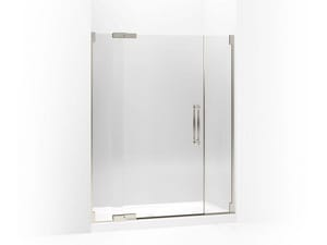 Kohler Finial® 72-1/4 x 59-3/4 in. Heavy Glass Pivot Shower Door with 3/8 in. Crystal Clear Glass KOH705729-L