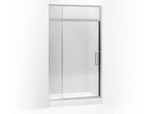 Kohler Lattis® 48 in. Pivot Shower Door with Sliding Steam Transom and Crystal Clear Tempered Glass KOH705823-L