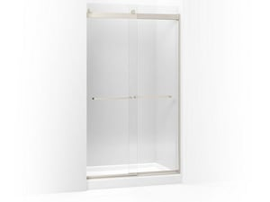 Kohler Levity® 82 x 47-5/8 in. Sliding Shower Door with Crystal Clear Tempered Glass and Square Towel Bar KOH706017-L