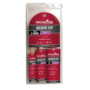 Wooster Plastic Tip Angle Paint Brush in White and Silver 3 Pack W5229