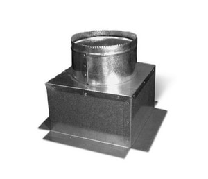 Lukjan Metal Products 6 x 12 in. Insulation Box with Flange SHMFIBR412UP