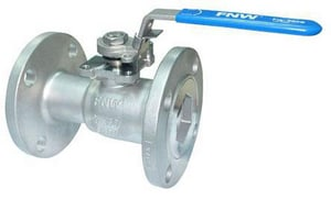 FNW Stainless Steel Reduced Port Flanged 150# Ball Valve FNW500B