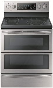 Samsung Electronics 29-7/8 in. 5-Burner 2-Door Freestanding Electric Range with Soft Close SNE59J7850AA