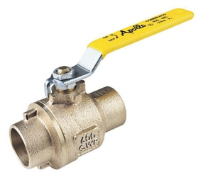 Apollo Conbraco 2-Piece Solder Bronze Full Port Ball Valve with Therma-Seal Insulating Tee A77C2011A