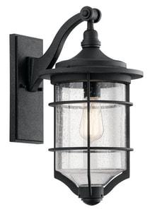 Kichler Lighting 100W Medium Outdoor Wall Sconce in Distressed Black KK49127DBK