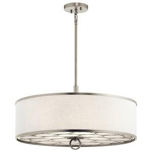 Kichler Lighting 100W Medium Pendant in Brushed Nickel KK43988NI