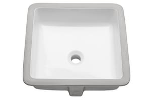Mirabelle® Destin 7 in. 1-Bowl Vitreous China Undermount Bathroom Sink in White MIRU1616WH